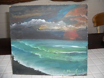 Original acrylic painting the tropics by Lesley Mumford  9.50 x 8.50 on board