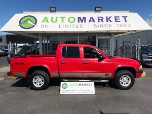 2004 Dodge Dakota Sport Plus CREWCab 4WD FINANCE IT!