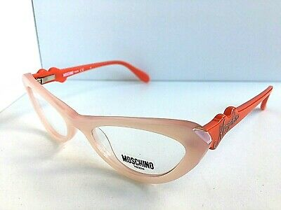 New MOSCHINO Teen MO 195 02 47mm Pink Red Cats Eye Women's Eyeglasses Italy