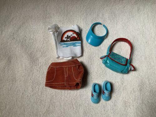 barbie clothes blue sneakers sun visor lot