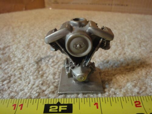 Harley Davidson vintage pewter Shovelhead metal motorcycle model engine.