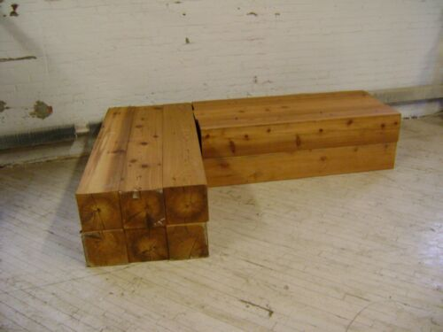 RETAIL MECHANDISE RISER BASE BENCH FARMHOUSE  LOOK SEAT LUMBER PROP SET 2