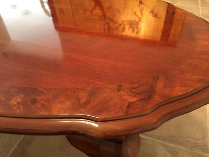 Vintage solid custom made coffee table excellent condition