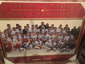 2002 Team Canada Men's Gold Medal Wall Plaque!