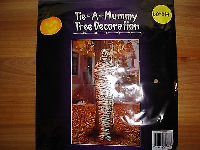 Tie - A - Mummy Door Wall Tree Yard Cover Halloween decoration decor NEW - Halloween Mummy Door Decorations