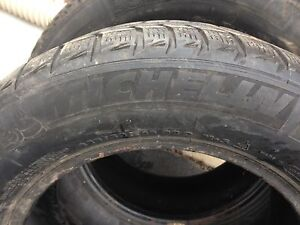 Michelin snow tires- used London Ontario image 1