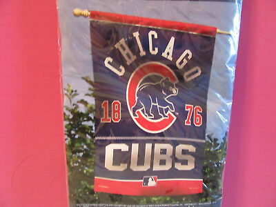 Chicago Cubs 1876 Flag 27 x 37 banner MLB vertical NEW Bryant Maddon Rizzo