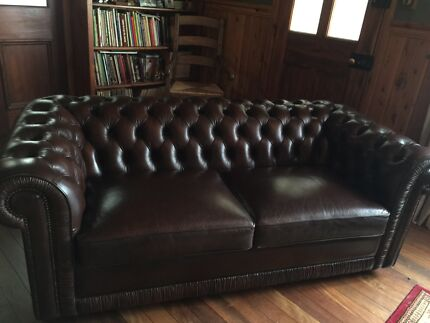 MORAN Leather Chesterfield Sofa  Wentworth Falls Blue Mountains Preview