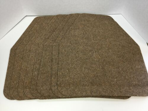 Wizkid Antimicrobial Urinal Mats, Brown, 2 Boxes, 8 Total Mats, Brand New