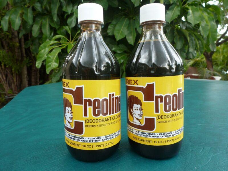 Cuban CREOLINA  Cleaner Odor Remover  Coal Tar Deodorant 16oz.Bottle  2-Pack