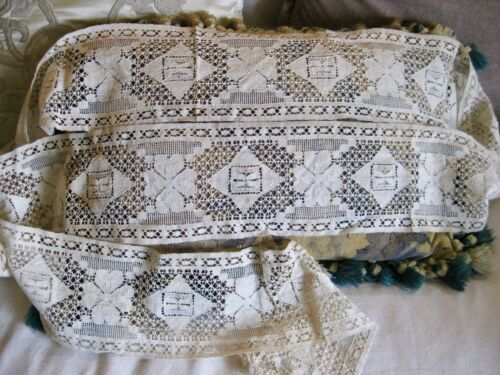 "104"" Edwardian Cotton LACE Trim Victorian 4 Leaf Clover 5"" WIDE Victorian"