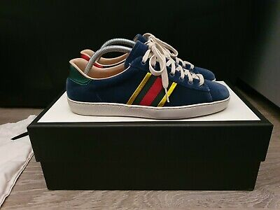 Gucci Ace Trainers - Blue Velvet Ace - UK 6.5 / EU 40.5 (Will fit UK 7.5)