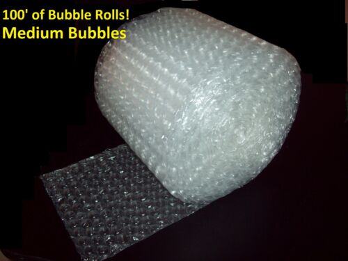 """100 Feet of Bubble® Wrap! 12"""" Wide! 5/16"""" MEDIUM Bubbles! Perforated Every 12"""""""