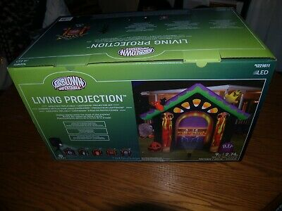 NEW~9' Haunted House Living Projection Halloween Airblown Inflatable~GEMMY~LED