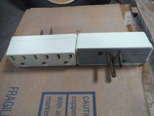 Leviton  15 Amp, 125 Volt, Triple Outlet Adapter (697-A) 10pcs