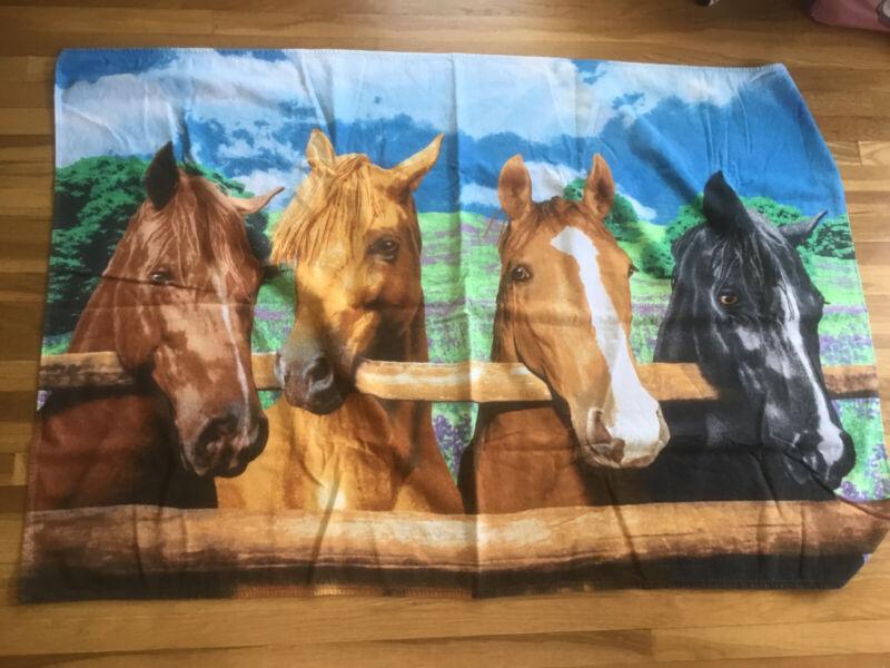 Hilasal Beach Towel Horses Fence Pattern