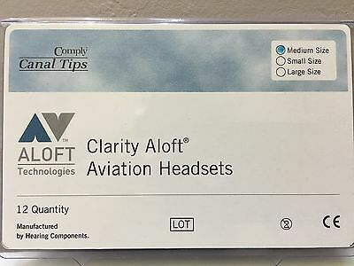 NEW GENUINE CLARITY ALOFT COMPLY MEDIUM CANAL TIPS 6 pairs