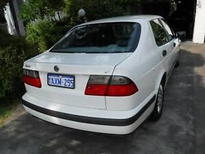 Saab 9.5 white Sedan