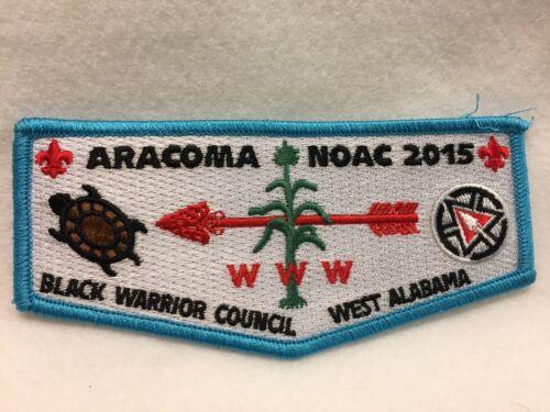 Boy Scouts - OA -  Aracoma NOAC 2015 - blue trim, Black Warrior Council flap