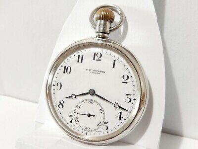 Antico orologio da tasca J.W.BENSON LONDON primi del 900 in ARGENTO