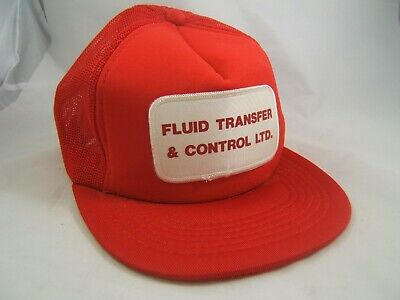 Transfer Control (Fluid Transfer & Control Ltd Patch Hat Vintage Red Snapback Trucker Cap)