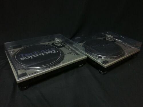 Technics SL-1200 MK3D Silver Pair Direct Drive DJ Turntable Very Good Condition