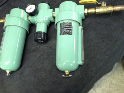 "Lincoln 602112 Filter, Regulator 602013 & Lubricator 602212 Combo, 3/4"" w/ Valve"
