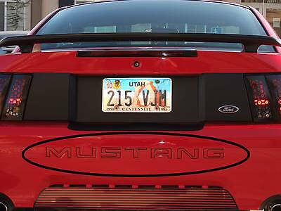 99-04 MUSTANG REAR BUMPER LETTER OUTLINES INSERTS DECALS FORD LICENSED STICKERS