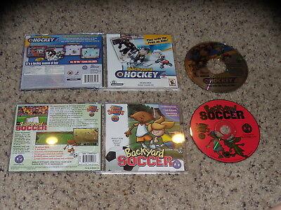 Backyard Soccer & Backyard Hockey PC Games Excellent Condition ()