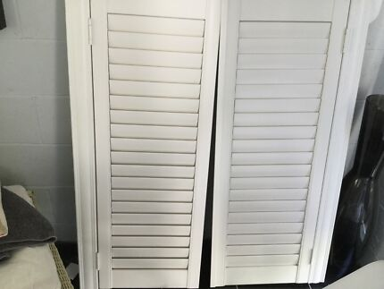 Plantation shutters. In frame. Hinged.