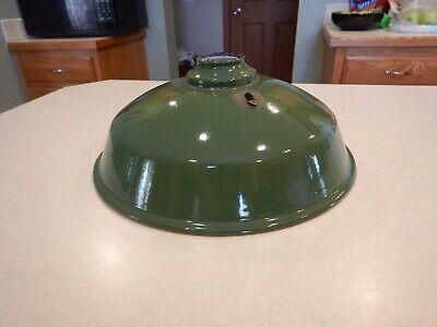 Vintage Green Porcelain Enamel Light Fixtures - Barn, Farm, with bullet hole