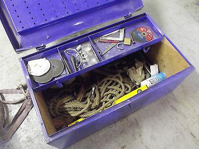 Große Metall Werkzeugkiste - Werkzeugbox  Fabr.Kiesel Werzeuge mit Inhalt