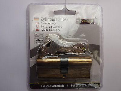 Profilzylinder, Schließzylinder,Türzylinder, Schloss 70mm NEU 35x35mm mit 5 Schl