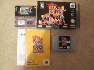 N64 ** CONKERS BAD FUR DAY ** PAL Boxed Complete Nintendo CIB cart manual HTF