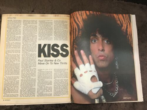 BAM Mag 1985 Kiss Paul Stanley Bono U2 Iron Maiden WASP Black N Blue Rudy Sarzo