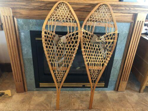Pair of Vintage Snowshoes - Unmarked - Look Unused - Complete