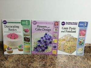Wilton cake decorating kit plus book