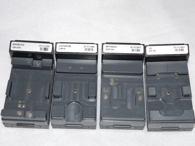 Cadex C7200 / C7400 Battery Analyzer Adapters LOT of 4