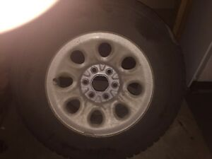 Winter tires and rims  245/70/R17 excellent condition