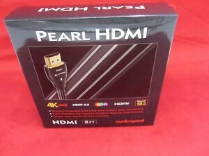 AUDIOQUEST PEARL HDMI WITH ETHERNET 3D 4K ULTRA HD ARC HDCP 2.2 - 8ft 8' NEW!!