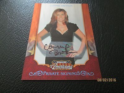 CONNIE BRITTON 2009 DONRUSS AMERICANA AUTOGRAPH 089/250