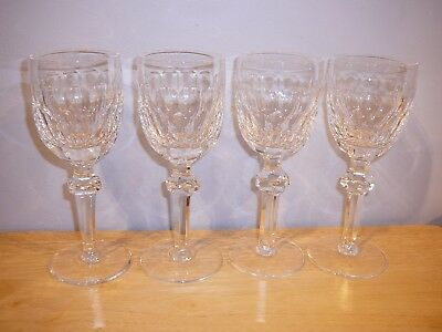 4 Waterford Crystal Curraghmore Claret Wine 7 1/8