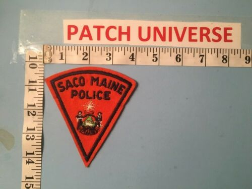 VINTAGE SACO MAINE POLICE  SHOULDER PATCH  M060