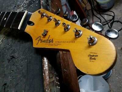 Genuine Fender Lic Relic Strat neck Aged Nitro 61 62 63 Stratocaster Mr G Custom