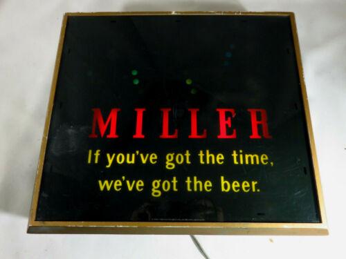 "Vintage Miller High Life Lighted Beer Sign Bouncing Ball Motion Color 15"" x 13"""