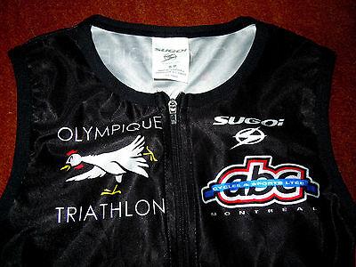 hochwertiges SUGOI Trikot Triathlon u. Radsport Damen Gr.XS ärmellos TOP Design