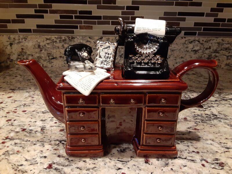Paul Cardew Crime Writers Desk Teapot Large