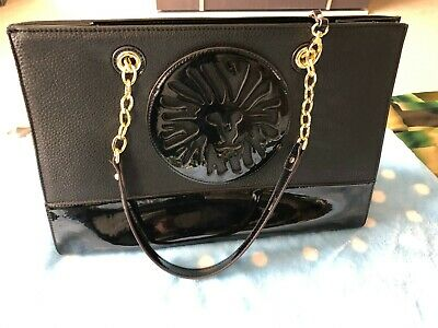 Anne Klein designer shoulder bag black lion.