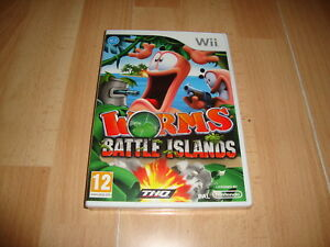 WORMS-BATTLE-ISLANDS-RVL-SLIP-ESP-DE-THQ-PARA-LA-NINTENDO-Wii-NUEVO-PRECINTADO