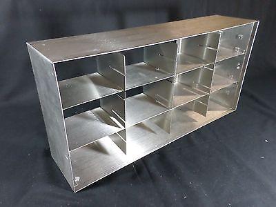 Laboratory Stainless Steel 2-3 Standard Box Adjustable Freezer Rack 22 Deep